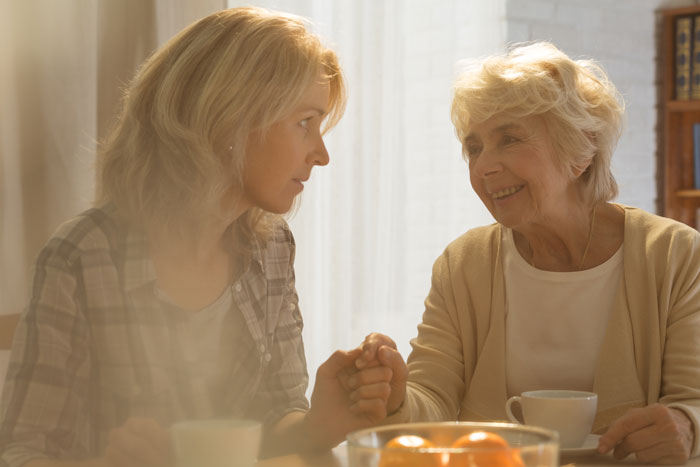 Daughter worrying about mothers long-term care needs